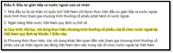 quy định mua cổ phiếu nước ngoài cho Công dân Việt Nam