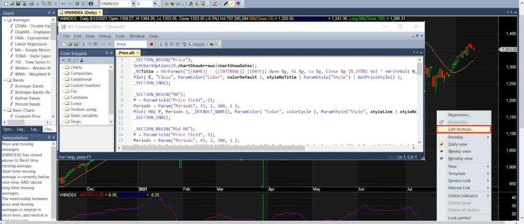 Edit formula